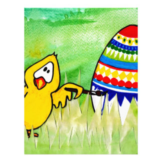 easter chicklet letterhead