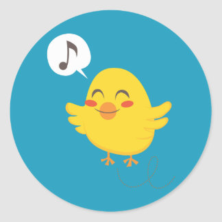 Easter Chicks Classic Round Sticker