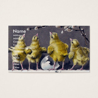 Easter Chicks Italian Vintage Business Card