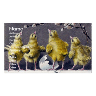 Easter Chicks Italian Vintage Business Cards