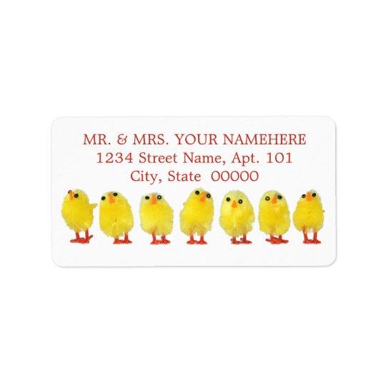 Easter Chicks Labels