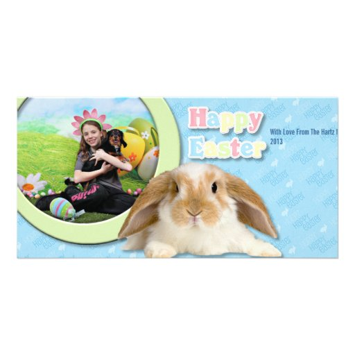 Easter - Chiweenie - Titus Photo Card Template