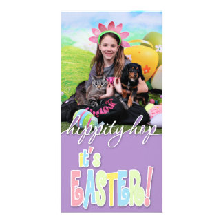Easter - Chiweenie - Titus Custom Photo Card