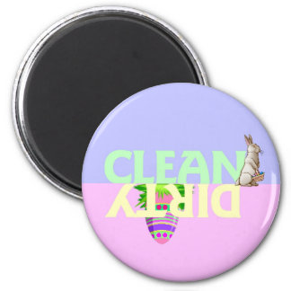 Easter Clean Dirty Dishwasher Magnet