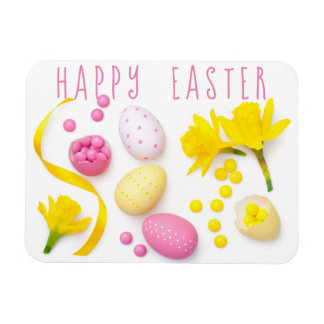 Easter Composition Isolated on White Background Magnet