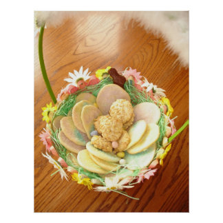 Easter Cookie Basket Poster