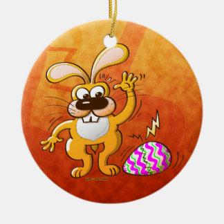 Easter Cracking Egg Round Ceramic Ornament