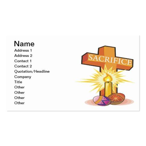 Easter Cross Business Card
