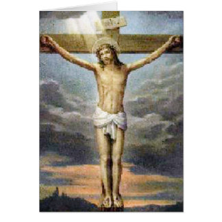 Easter Crucifixion Religious Card