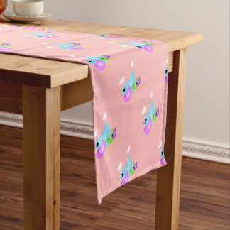 Easter cute spring bird family table runner