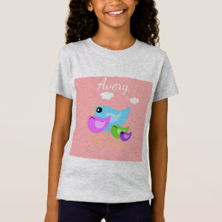 Easter cute spring time bird family shirt