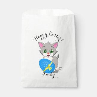 Easter Cutie Grey Kitten Cartoon Favour Bag