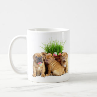 Easter Dogue de Bordeaux puppies coffee mug