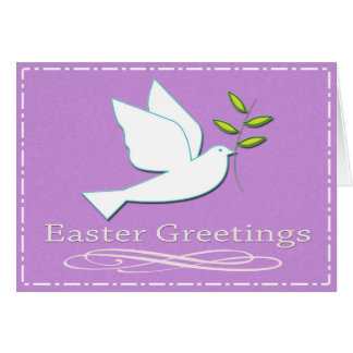 Easter Dove with Olive Branch Card