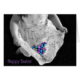 Easter Dress and Choclate Memories Greeting Card