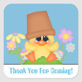 Easter Duck egg hunt Thank you sticker