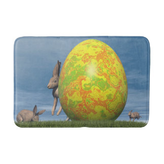 Easter egg - 3D render Bath Mat