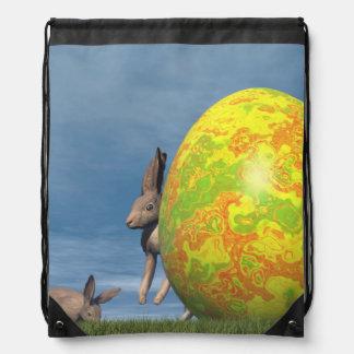 Easter egg - 3D render Drawstring Bag