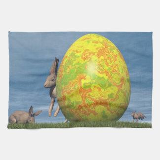 Easter egg - 3D render Kitchen Towel