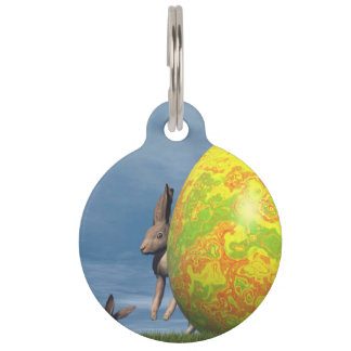 Easter egg - 3D render Pet Tag