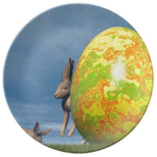 Easter egg - 3D render Plate