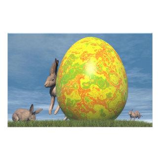 Easter egg - 3D render Stationery