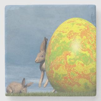 Easter egg - 3D render Stone Coaster