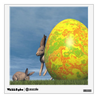 Easter egg - 3D render Wall Decal