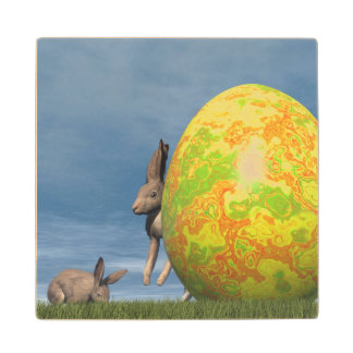 Easter egg - 3D render Wood Coaster