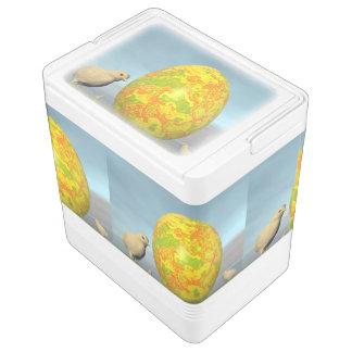 Easter egg and chicks - 3D render