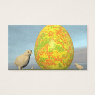 Easter egg and chicks - 3D render Business Card