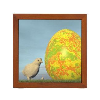 Easter egg and chicks - 3D render Desk Organizer