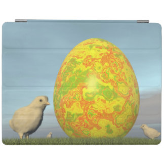 Easter egg and chicks - 3D render iPad Cover