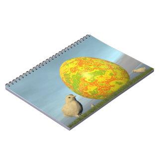Easter egg and chicks - 3D render Notebook