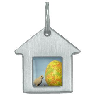 Easter egg and chicks - 3D render Pet Tag