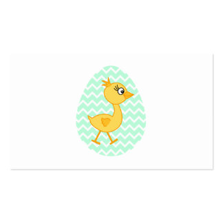 Easter Egg and Cute Chick. Double-Sided Standard Business Cards (Pack Of 100)