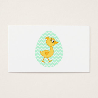 Easter Egg and Cute Chick. Business Card