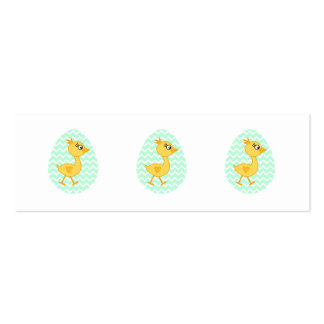 Easter Egg and Cute Chick. Double-Sided Mini Business Cards (Pack Of 20)