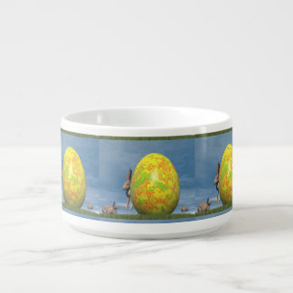 Easter egg and hare - 3D render Bowl