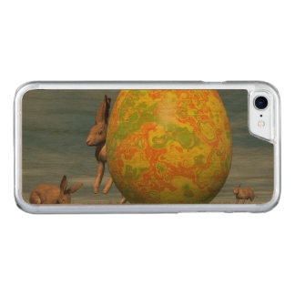 Easter egg and hare - 3D render Carved iPhone 8/7 Case