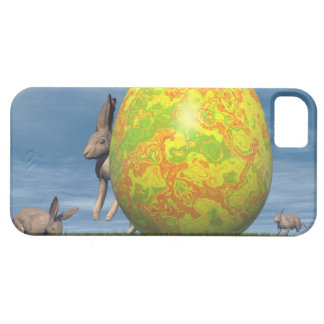 Easter egg and hare - 3D render Case For The iPhone 5