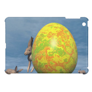 Easter egg and hare - 3D render Cover For The iPad Mini
