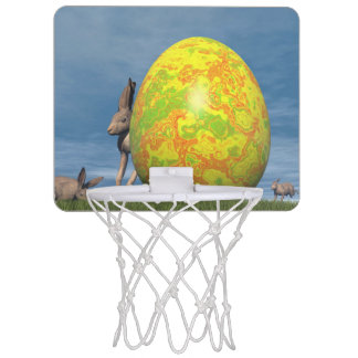 Easter egg and hare - 3D render Mini Basketball Hoop