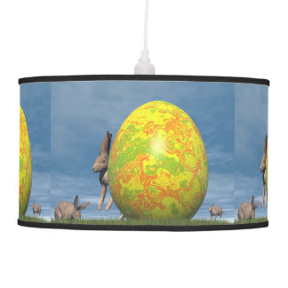 Easter egg and hare - 3D render Pendant Lamp