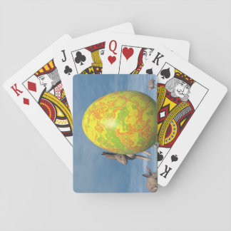 Easter egg and hare - 3D render Playing Cards