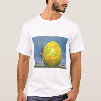 Easter egg and hare - 3D render T-Shirt
