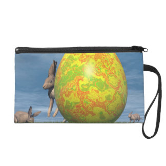 Easter egg and hare - 3D render Wristlet