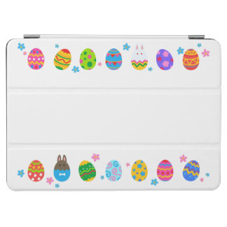 < Easter egg and rabbit side line > Easter Eggs & iPad Air Cover