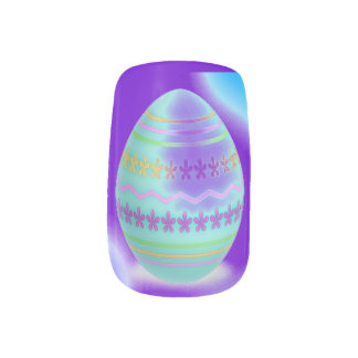 Easter Egg Blues Nail Stickers