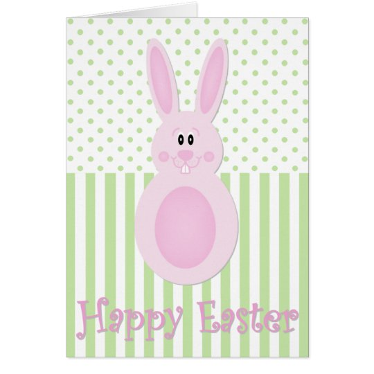 Easter Egg Bunny Happy Easter Card